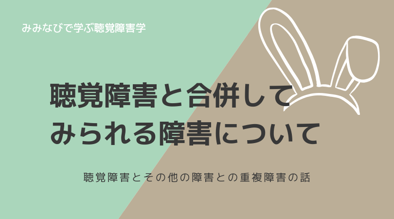 【解説】聴覚障害と合併して見られる障害について